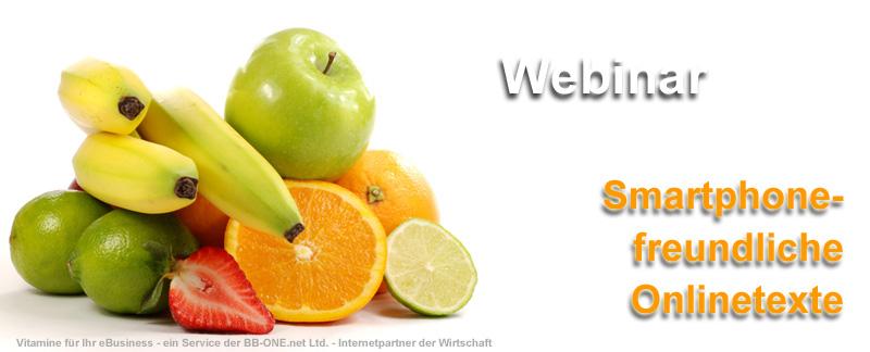 Webinar Smartphone-freundliche Onlinetexte
