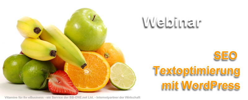 Webinar SEO Textoptimierung mit WordPress