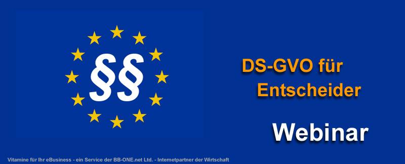 Webinar DS-GVO für Entscheider