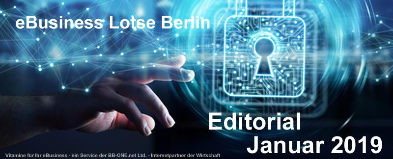 Internet, Sicherheit, Cyberkriminalität - Editorial Januar 2019