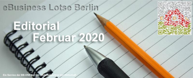 Editorial Februar 2020 - Die Themen: Domainwissen, IT-Sicherheit