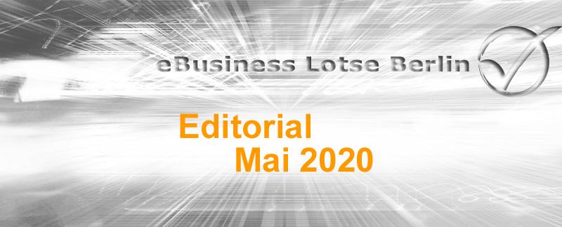 Editorial Mai 2020 - 100% BAFA-Förderung für Beratungspaket EBL Go Forward, digitale Positionierung, EBL wird UG