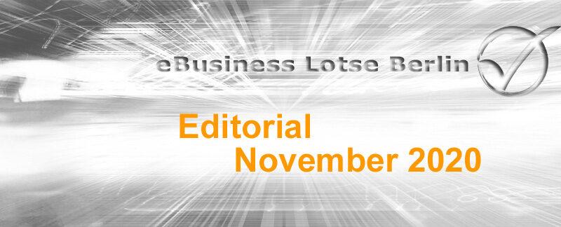 Editorial November 2020, E-Mailarchivierung, Umfrage, Themenstammtisch