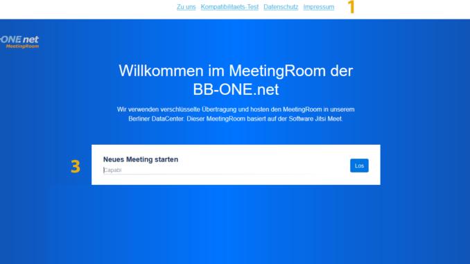 Screenshot MeetingRoom BB-ONE.net